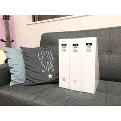 子供部屋/子ども部屋収納/ファイルボックス収納/ファイルボックス/フォロー大歓迎/雑貨/... Seriaでファイルボックスを購入。 ま…
