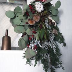 クリスマススワッグ/花束/スワッグ/クリスマス2019/リミアの冬暮らし/雑貨/... 友達のお花屋さんにオーダーしたスワッグ。…
