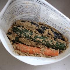 発酵食品/無印良品/発酵ぬか床/野菜/暮らし/シンプルライフ/... 無印良品のお手軽【発酵ぬか床】でお漬物を…
