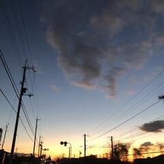 冬空/夕焼け/フォロー大歓迎/冬/おでかけ/旅行/... 夕焼けが綺麗だった三連休のお出かけ帰り。