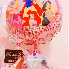 かわいい/ディズニープリンセス/バルーン/セリア/ダイソー/ハンドメイド ディズニー好きな友達の娘ちゃんが誕生日が…