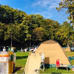 アウトドア/キャンプ/秋/おでかけ キャンプの朝🍳@長瀞 朝風呂にも入りすっ…