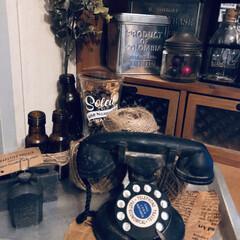 アンティーク雑貨/黒電話/インテリア/雑貨 この前の リビングの雑貨の photoÜ…