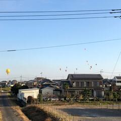 学校祭/家から気球が観れる!/ハロウィン2019/ここが好き 昨日の朝起きて、洗濯物を干そうと空を見た…