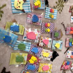 バッチ/マグネット/キーホルダー/フリーマーケット/ハンドメイド 🍏幼稚園の餅つき会で開催される、バザー&…(3枚目)