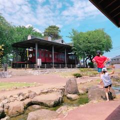 コロナに負けるな/がんばれ日本/新しい生活様式/公園遊び 昨日と同じ公園へ😅  次女はデイサービス…