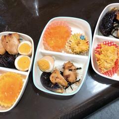 夕飯メニュー/みかんゼリー/かぼちゃサラダ/煮卵/ナス焼き/鳥の照り焼き/... ウララさんへ 照り焼きプレートになってし…