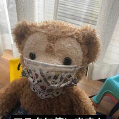 インフルエンザ予防/マスクバンド/マスク/冬/ハンドメイド 次女がマスクを使うと、耳が小さい為すぐに…(2枚目)