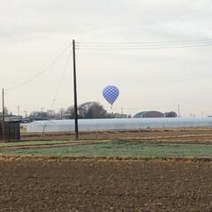 気球/風景 今朝、三女の幼稚園に送りに行く途中… ち…