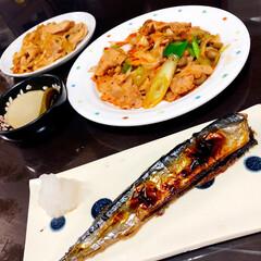 夕飯/nagomiさん作品/おうちごはんクラブ/おうちごはん/グルメ/フード 今日の夕飯🤗 nagomiさんのお皿が使…