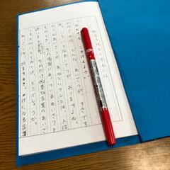 よさこいソーラン/和太鼓/朗読発表/夏休みの課題/作文/社会を明るくするには、/... 昨年の夏休みの作文の宿題📖頑張って書いて…(4枚目)