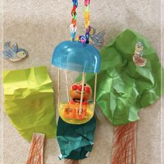 お遊び/壁面画/ガチャ/気球/アンパンマン いつのまにか…  子供達3人の大作😆😆😆…