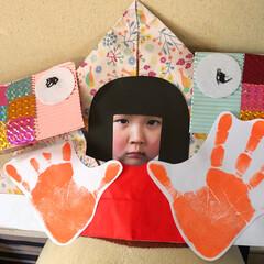鯉のぼり/兜/こどもの日 幼稚園で作ってきた兜 面白すぎる🤣🤣🤣 …