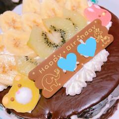 クマさんカレー/カレー/誕生日/バースデイケーキ/おうちごはん 三女の誕生日🎉 前夜😅 今日ならパパが、…