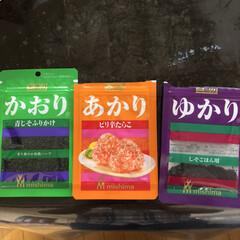 三島食品 ゆかり 26g 775592(ふりかけ)を使ったクチコミ「ふりかけ三姉妹  我が家の三姉妹の中に、…」