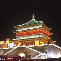 お出かけ/おでかけワンショット/おでかけ/暮らし/旅行/フォロー大歓迎/... 旅先での綺麗な風景 夜に行った中国の繁華…