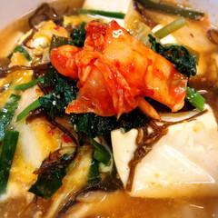 ダイエット/低糖質/ダイエット食/ダイエットメニュー/LIMIAごはんクラブ/わたしのごはん/... もすぐとキムチのサンラータン風スープ  …