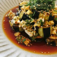 簡単レシピ/茄子の香味びたし/茄子/わたしのごはん 我が家で人気の副菜です。 [茄子の香味び…