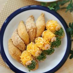 お昼ご飯/錦糸卵/いなり寿司/おうちごはんクラブ/おうちごはん/フード/... うちの家族は、いなり寿司が大好きなんです…