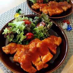豚肉/メイン料理/ポークチャップ/わたしのごはん 我が家で人気のおかず[ポークチャップ]で…
