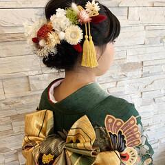 プリザーブドフラワー/成人式/髪飾り/雑貨/ハンドメイド 娘の成人式の髪飾りを製作しました。 プリ…