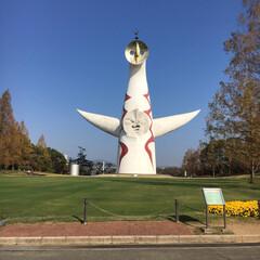 太陽の塔/大阪/秋/風景/旅 大阪万博記念公園に初めて行きました☆ 気…
