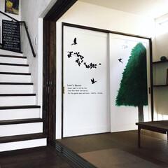 ウォールステッカー/もみの木/手描き/クリスマスツリー/住まい/クリスマス 和室の扉に娘が描いたもみの木です。  ク…