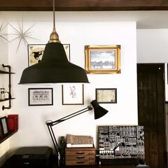 インテリア/マリメッコ/パソコンカウンター/ダイニング/漆喰壁/フェルメール/... ダイニング背面のパソコンカウンターの壁の…