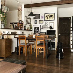 オーダーメイド/ダイニング/ダイニングテーブル/我が家のテーブル/リミアな暮らし/100均/... ダイニングテーブルは工務店にオーダーで頼…