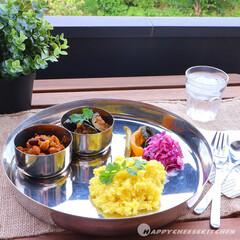 スパイスカレー/スパイス/自家製カレー/サフランライス/パクチー/インディカ米/... インド風なワンプレごはん ! 子供も食べ…