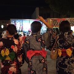 わたしのお盆/おでかけ/ファッション/フォロー大歓迎 今年も近所の盆踊り大会に浴衣を着て参加👘…(2枚目)