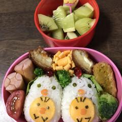 キャラ弁/4歳児/保育園弁当/おうちごはん 月1の保育園おかずお弁当の日。 毎月何に…