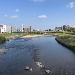 景色/暮らし/フォロー大歓迎 自転車で買い物へ。 橋を渡るこの豊平川の…