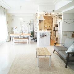 リメイク/フォロー大歓迎/DIY/インテリア/家具/ハンドメイド 安っぽいガラステーブルが実家に眠っていた…(1枚目)