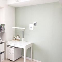 アクセントウォール/インテリア/DIY/住まい/リフォーム 娘の部屋。一面だけアクセントウォールに、…(1枚目)