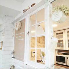 窓枠/黒板塗料/黒板/インテリア/DIY/雑貨/... 棚を撤去し窓枠に作り直した写真。 この窓…