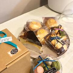 スイーツ/至福時間/お家カフェ/moco sweets/焼き菓子/バスクチーズケーキ 友達のお店のスイーツ♡ バスクチーズケー…
