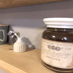 フォロー大歓迎/ハンドメイド/キッチン/キッチン雑貨/雑貨だいすき コーヒー瓶。 出しっぱなしも可愛いコーヒ…(1枚目)