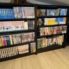 漫画収納/本棚/収納/まんが収納/IKEA/本収納/... 家族の本やマンガなどは、 「ここに入るだ…