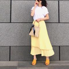 韓国ブランド/プリーツスカート/スカートコーデ/ファッション/今日のコーデ/コーデ 韓国のブランドって、 大胆だったり、ユニ…