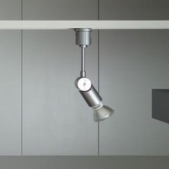 照明/照明器具/スポットライト/LED/配線ダクト/ライティングレール/... 配線ダクトに付けた照明器具。 キッチンや…