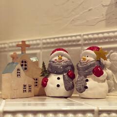 クリスマス雑貨/スノーマン/冬雑貨/雑貨/住まい/暮らし ෆ̈可愛いスノーマンサンタෆ̈ これから…