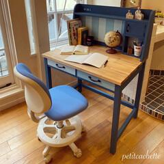 勉強机/学習机/収納/DIY/インテリア/おしゃれ ♡︎息子の学習机作りました♡︎ 前回投…(1枚目)