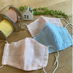 ハンドメイド/お家時間/マスク作り/簡単/おしゃれ/暮らし ♡︎お家時間〜ハンドメイド〜♡︎ ダブル…
