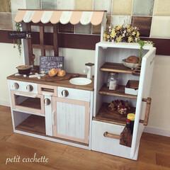 おままごと/おままごと冷蔵庫/おままごとキッチン/DIY/収納/雑貨/... ❤︎おままごと冷蔵庫を作りました!♡︎ …(7枚目)