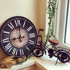 壁掛け時計/ウォールクロック/時計/インテリア/雑貨/住まい ✢︎アンティーク壁掛け時計✢︎ お洒落な…