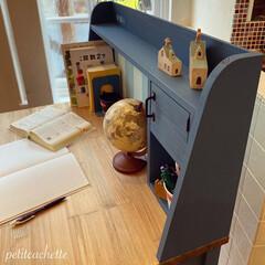 勉強机/学習机/収納/DIY/インテリア/おしゃれ ♡︎息子の学習机作りました♡︎ 前回投…(4枚目)
