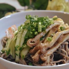 和蕎麦/たぬきそば/LIMIAごはんクラブ/おうちごはんクラブ 今日のお昼ご飯^ ^  暑さが危ない位の…