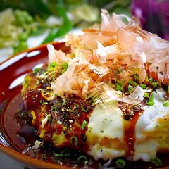 チーズイン/お好み焼き/フォロー大歓迎 こんばんは^ ^ 今日の夕飯です キャベ…