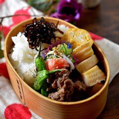 リミアな暮らし/曲げわっぱ/竹の子白煮/だしまきたまご/牛肉時雨煮/お弁当 おはようございます😊 晴天の和歌山ですが…